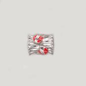 Подвеска-шарм Божьи Коровки с красной эмалью, серебро