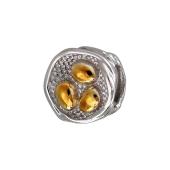 Подвеска-шарм круглая, серебро с позолотой
