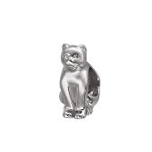 Подвеска-шарм Кошка, серебро