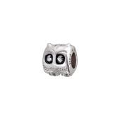 Подвеска-шарм Сова с эмалью, серебро