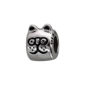 Подвеска-шарм Кошка с эмалью, серебро