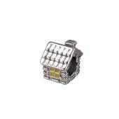 Подвеска-шарм Избушка с эмалью, серебро