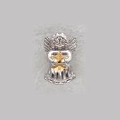 Подвеска-шарм Ангел со звездой, серебро с позолотой