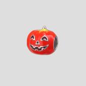 Кулон шарм Веселая Тыква на Хеллоуин с красной эмалью из серебра