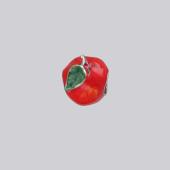 Кулон Шарм Яблоко с красной и зеленой эмалью, серебро