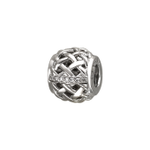 Подвеска-шарм Корзинка с фианитами, серебро