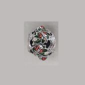 Кулон-шарм Божьи Коровки с фианитами и цветной эмалью, серебро с чернением