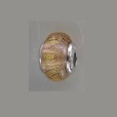 Шарм с муранским стеклом из серебра