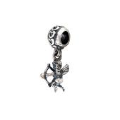 Подвеска-шарм Амур пускающий стрелу, серебро с чернением