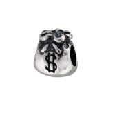 Подвеска-шарм Мешок с деньгами, серебро с чернением