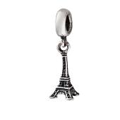 Кулон шарм Эйфелева Башня, подвеска для браслета, серебро с чернением