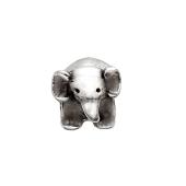 Кулон шарм Слон, серебро с чернением