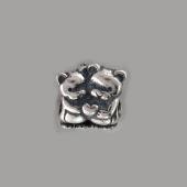 Подвекса-Шарм Два Медведя с сердцем, серебро с чернением