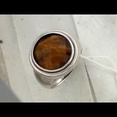 Кольцо с перламутром (тигровым глазом, малахитом), серебро