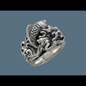 Кольцо Рыба в Море, серебро