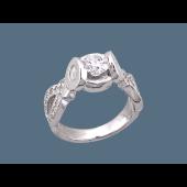 Кольцо Роскошь с фианитами, серебро