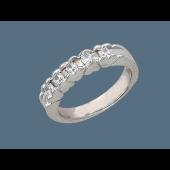 Кольцо Сердечки с фианитами, серебро