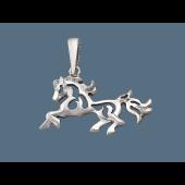 Кулон Лошадь без вставок, серебро