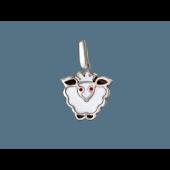 Кулон детский Овечка с цветной эмалью, серебро