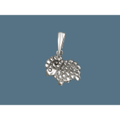 Кулон Барашек (Овечка) без вставок, серебро