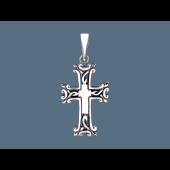 Крест без распятия армянский, серебро