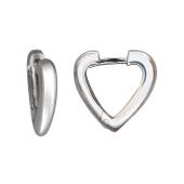 Серьги-кольца Конго минималистичные треугольные из серебра пробы 925