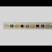 Браслет с янтарем (малахитом, бирюзой) из серебра