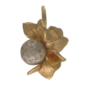 Кулон Цветок с бриллиантами, желтое и белое золото