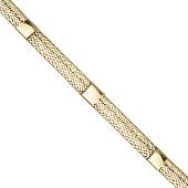 Браслет Сеточка из золотых нитей, змеиная кожа, желтое золото