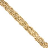 Браслет Спираль, желтое золото