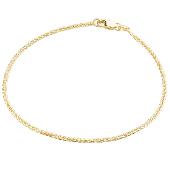 Браслет цепь Колосок, желтое золото 1,8мм