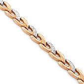 Браслет Ролекс с алмазными гранями, красное золото