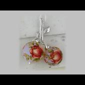 Подвеска Расписные Яблочки с цветной эмалью, серебро
