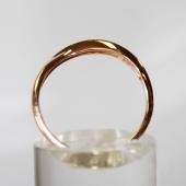 Кольцо Волна без камней, красное золото