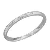Кольцо Викс с пятью бриллиантами, белое золото