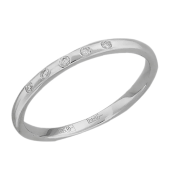 Кольцо с пятью бриллиантами, белое золото