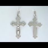 Крест православный, белое золото 28.9 мм