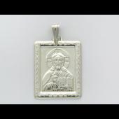 Господь Вседержитель в прямоугольном окладе из серебра