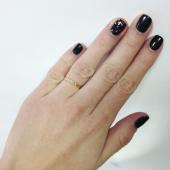 Кольцо обручальное кольцо с огранкой звездочка тонкое 1,8 мм, красное золото