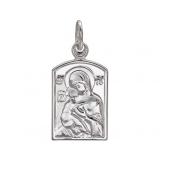 Владимирская Икона Божьей Матери из серебра