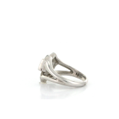 Кольцо квадраты с фианитами и перламутром TED LAPIDUS, серебро