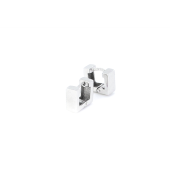 Серьги Квадрат минималистичные гладкие из серебра