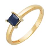 Кольцо с квадратным бриллиантом, красное и белое золото