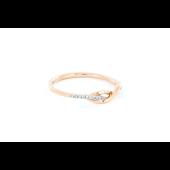 Кольцо Бесконечность с бриллиантами, красное золото