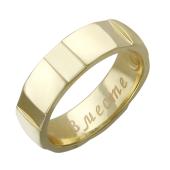 Кольцо обручальное Гайка с гравировкой Вместе Навсегда, широкий торец h=5.5 mm
