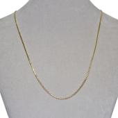 Цепь Двойной ромб с алмазной огранкой 2-х сторон, жёлтое золото, 585 проба 1.5мм