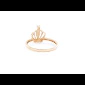 Кольцо Корона с фианитами, красное золото
