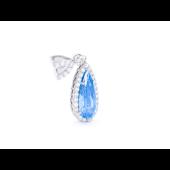 Подвеска Капелька с голубым фианитом, серебро