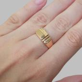 Мужское золотое кольцо с алмазными гранями, красное золото 585 пробы