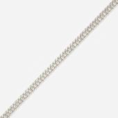 Цепь Двойная панцирная, с алмазной огранкой 2-х сторон, белое золото 1.7мм